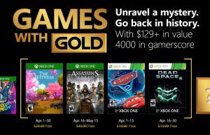 Xbox Games With Gold - Les jeux gratuits du mois d'avril 2018