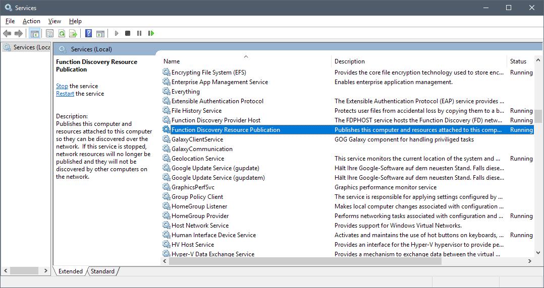 Windows 10 decouverte reseau