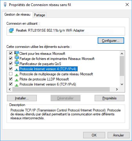 Propriétés-Ethernet-Wi-Fi