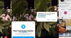 Messenger partage d'écran